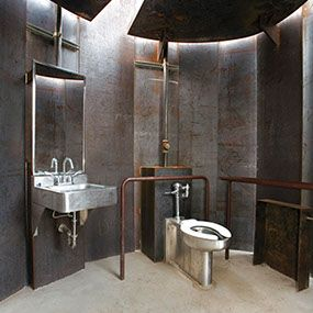 Steampunk bathroom  //  TRAIL RESTROOM - Miro Rivera