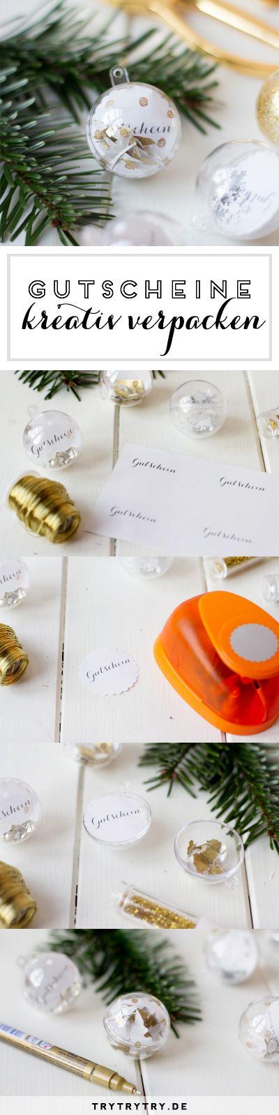 Last-Minute-Geschenk: Gutschein kreativ verpacken für Weihnachten