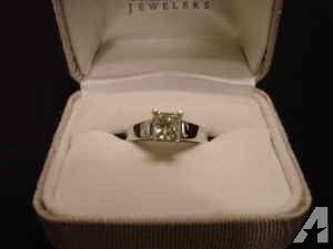 Engagement Ring 1CT, Princess Cut, 14K White Gold NEW! $1700 - $1700 (Diamonds)
