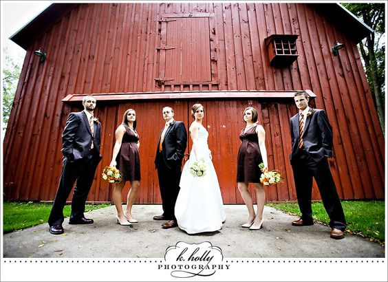 barn wedding party.  Beautiful colours with the barn.  Like the laid back stance too.