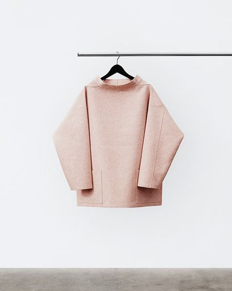 Pinks - of different shades - can take the classic chic wardrobe to a warmer but level And here, the clothes are shot next to the more editorial content