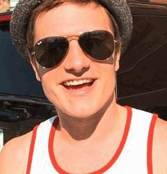 ray ban aviator sunglasses rb3025  the hunger games star, josh hutcherson wearing ray ban aviator sunglasses rb3025 l0205
