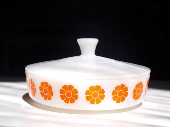 pyrex covered casserole dish by ediemburke on Etsy, $25.00