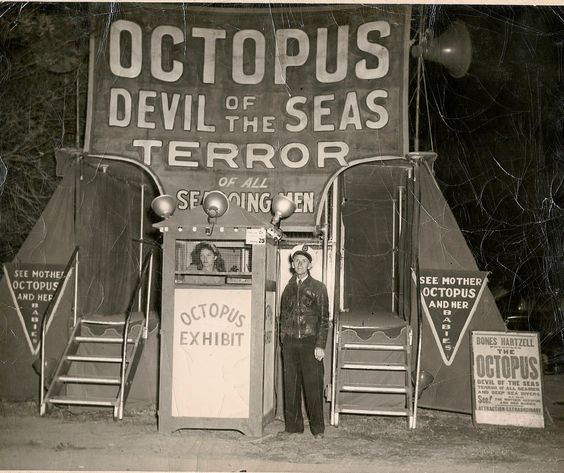 Sideshow on Cappel Bros.Wild Animal Circus