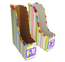 Magazine holders - cereal boxes