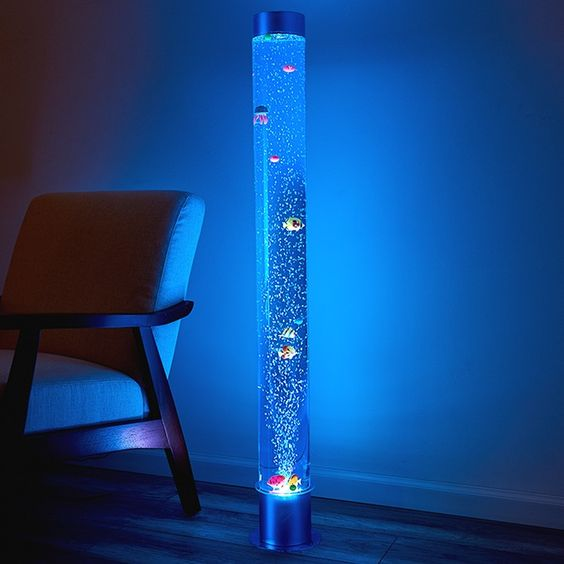 A Stimulating Visual Spectacle The Led Hypnotic Bubble Aquarium