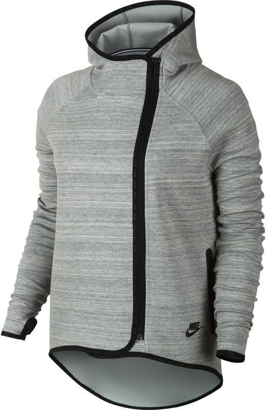 Nike Tech Fleece Cape Women's Hoodie Grey 655765 063 Size Small ...