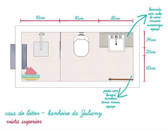 projetos banheiros pequenos medidas  Pesquisa Google  LAYOUT GUIDE AND TIPS -> Medidas Ideais Para Banheiro Com Banheira
