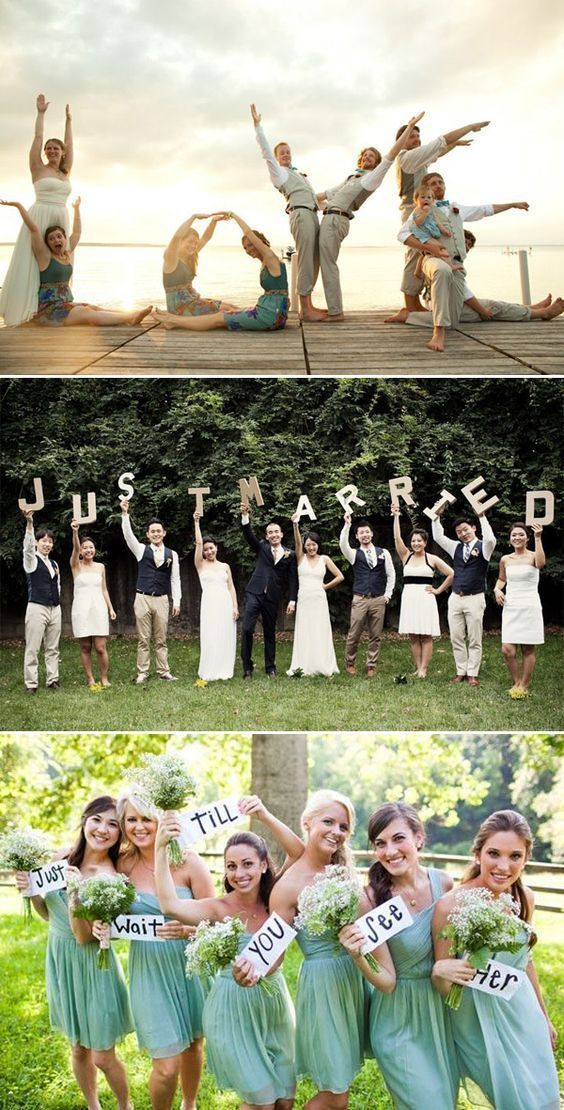 Classic Bridal Party And Group Photos Are Necessary But After Hours Of Standing Perfectly Composed You Deserve Somethi Hochzeitsfeier Fotos Hochzeit Hochzeit