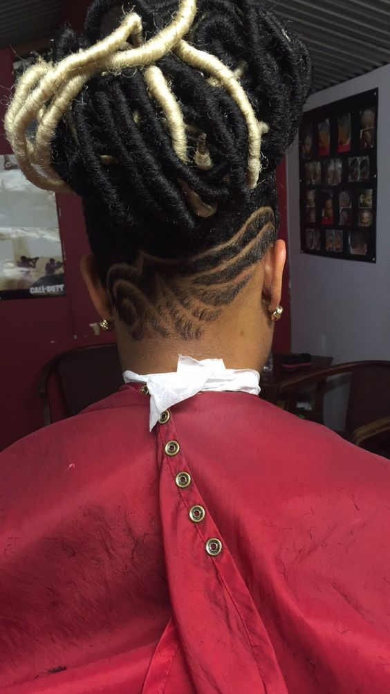 Faux Locs Shaved Sides And Locs On Pinterest