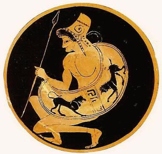 Art Ceramica VI Kylix antigua Peltasta Antikenmuseum der Universiat Leipzig.gif (517×491)