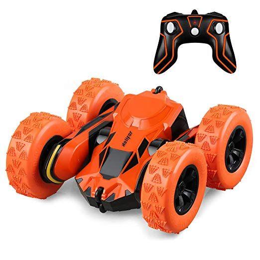 Ferngesteuertes Auto Kinder Helifar Rc Car 1 28 Rc Auto Mit 360 Drehbaren Rader Doppelseitiges Fahren 4wd Motor 1 Rc Autos Ferngesteuertes Auto Spielzeugautos