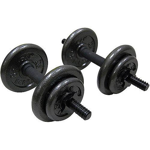 Golds Gym Vinyl Dumbbell Set 40 lb Adjustable Weight Set Ships FREE SAME DAY