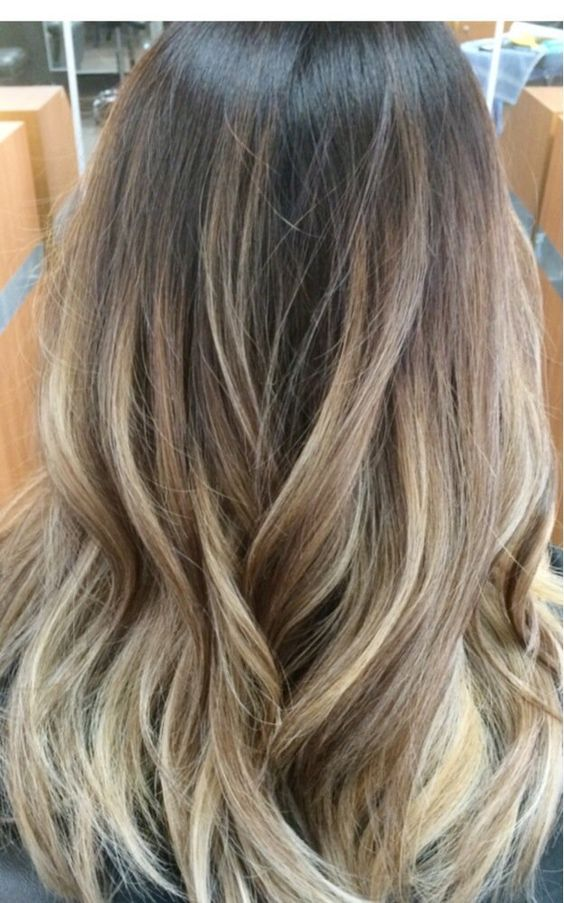 Asian gold beige blond ombré Balayage