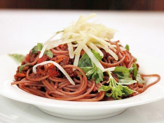 Drunken Spaghetti with Hot Salami Meat Sauce