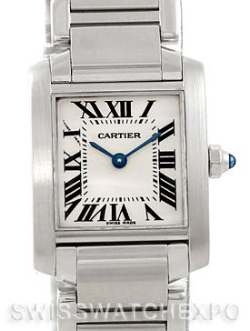 Cartier Tank Francaise Ladies Stainless Steel Watch W51008Q3