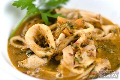 Receita de Lula ensopada em receitas de crustaceos, veja essa e outras receitas aqui!