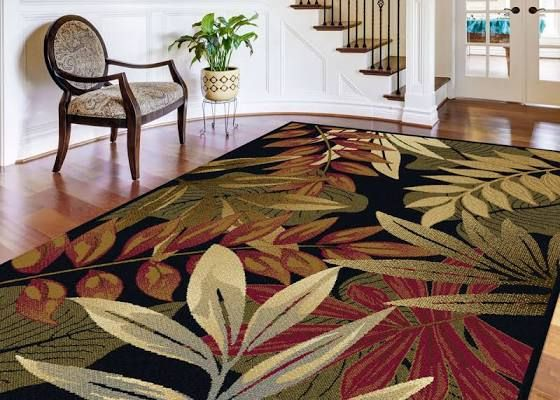 Tropical Outdoor Rug 5 X 7 Transitional Area Rugs Area Rugs Black Area Rugs Outdoor rugs 5 x 7
