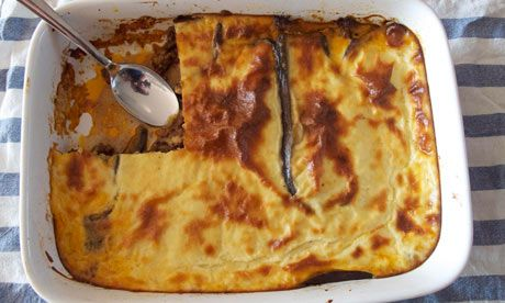 Felicity's perfect moussaka. From the Guardian, inspired by a medley of top chefs :)