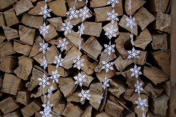 snow flake garland