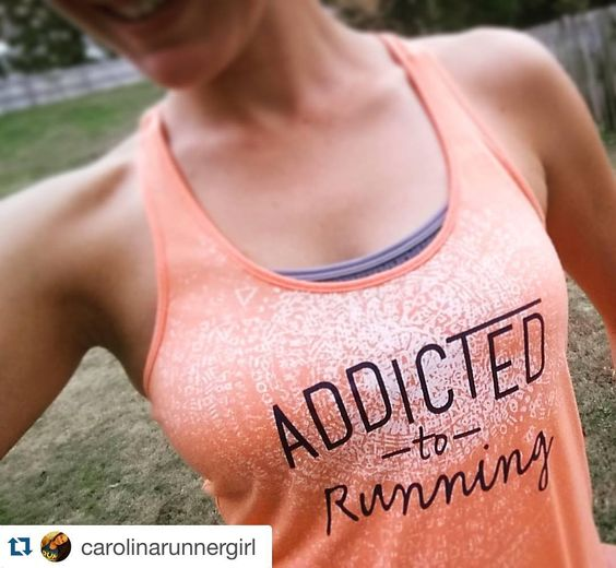 "Addicted to running #InstaRunners  Repost @carolinarunnergirl I figured out why they gave ""Mother Nature"" a feminine name.. Because she can be just as fickle as most of us women!   Does every #runner check the #weather as frequently as I do?   Long Sleeves yesterday.. Tank top today! How was the weather where YOU'RE at? by instarunners"