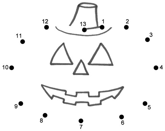 connect the dots page | Halloween | Pinterest | Pumpkins, The o ...