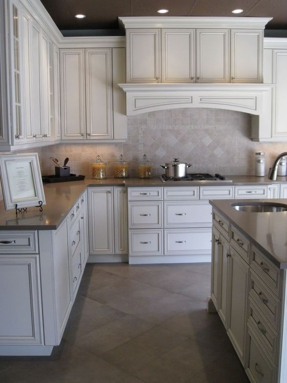 Cream Colored Cabinets With Brown Glaze   Google Search | Kitchen/dining  Room | Pinterest | Cream Colored Cabinets, Glaze And Google Search