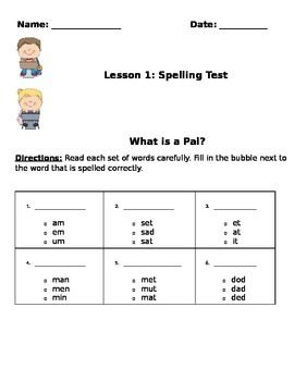 This a is multiple choice spelling test to accompany Lesson 1 of ...