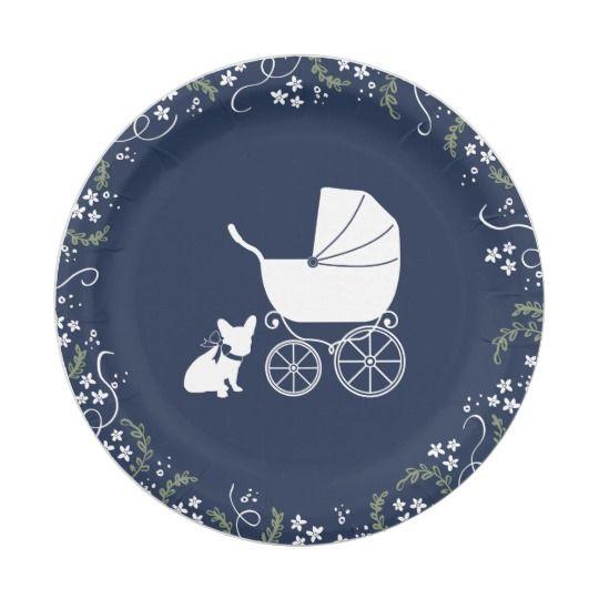 French Bulldog Baby Shower Plates Design 3 Zazzle Com Baby