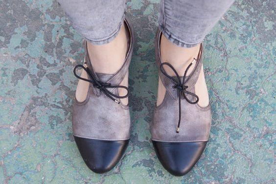 Nieuw Lederen sandalen lederen flats lederen schoenen door BangiShop