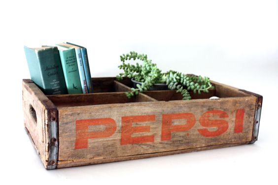 Vintage wooden soda crate. #pepsi #cola #vintage #weathered #wood