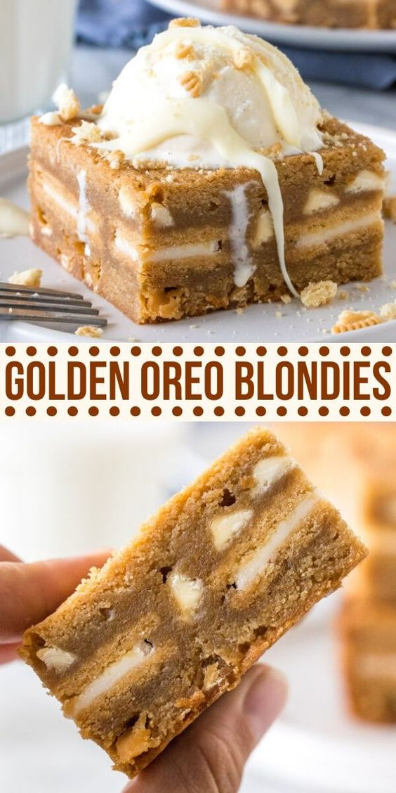 Golden Oreo Blondies | Rezept