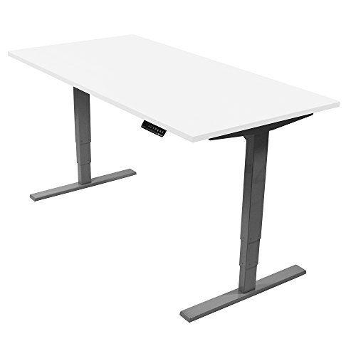 Ergonomischer Steh Sitz Tisch Mit Memory Funktion Beugt Ruckenschmerzen Haus Deko Hohenverstellbarer Schreibtisch Elektrisch Hohenverstellbarer Schreibtisch