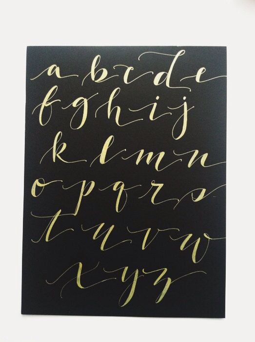 Calligraphy alphabet and diff rent strokes on pinterest