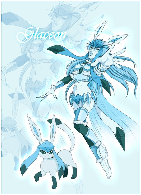 Glaceon Gijinka - Pokemon by UnicaGem