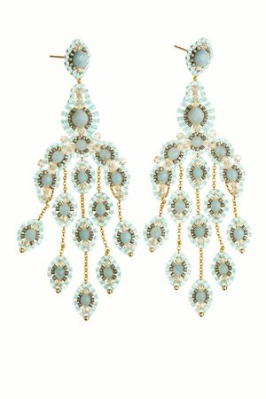 Amazonite Chandelier Earrings. The colors may be soft, but these are still show stoppers.