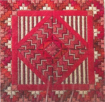 Color Delights Coral - Needlepoint Pattern, charted needlepoint