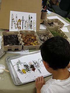 Our Reggio Emilia-Inspired Classroom Transformation: Using Natural Materials to create names.