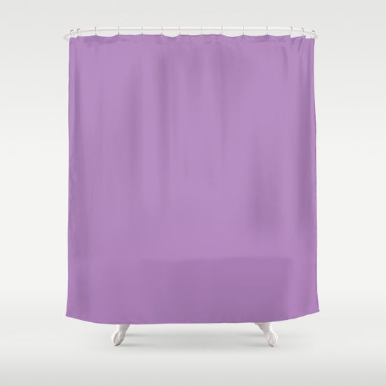 African Violet Shower Curtain Pink Shower Curtains Solid Color