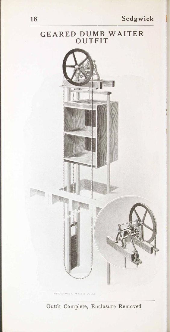 Simple Dumbwaiter Thread Hand Powered Elevators And
