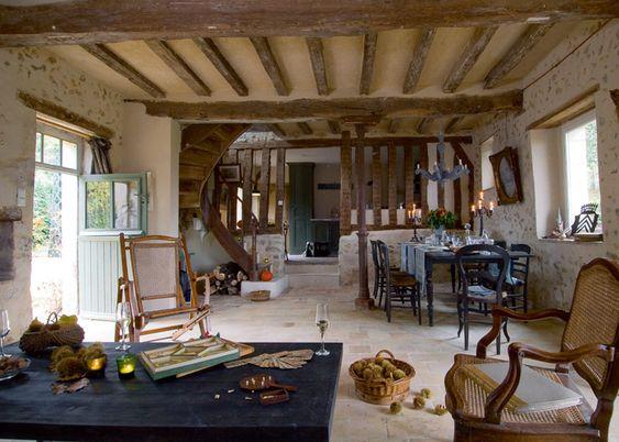 D couvrez la d co chaleureuse et cosy de cette ancienne for Decoration maison normande traditionnelle