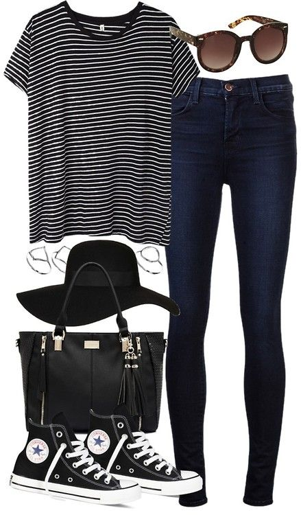 styleselection:  outfit for college by im-emma featuring plastic sunglasses