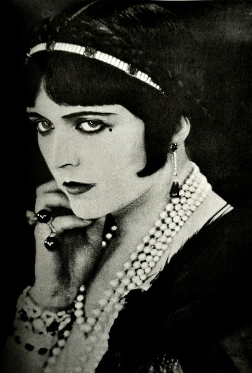 pola Negri, married to Rudolph Valentino....She ruined his pictures with her demands and it got so bad, she was banned from the set....They eventually divorced....or not??