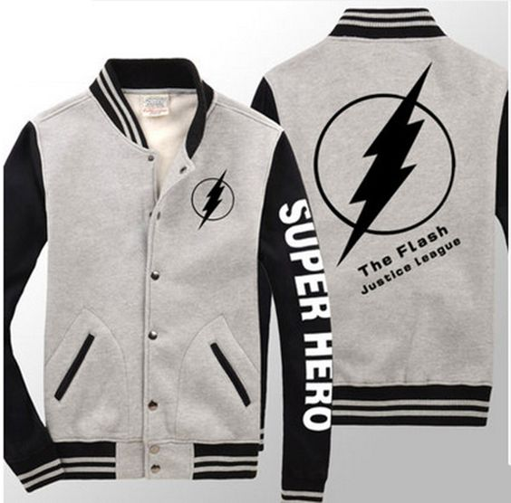 The Flash best baseball jackets for men long sleeve super hero