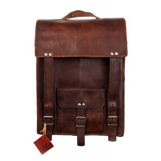 Viparo leather backpack
