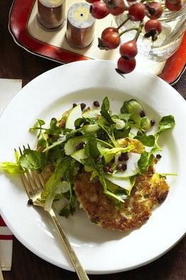 Good for gluten free folks: Calas (Rice Fritters) With Apple, Currant and Celery Salad #glutenfree
