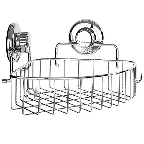Hasko Accessories Corner Shower Caddy With Suction Cup