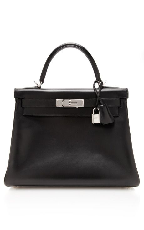 Vintage Hermès 28cm black calf box leather Retourne Kelly by Heritage Auctions Special Collections