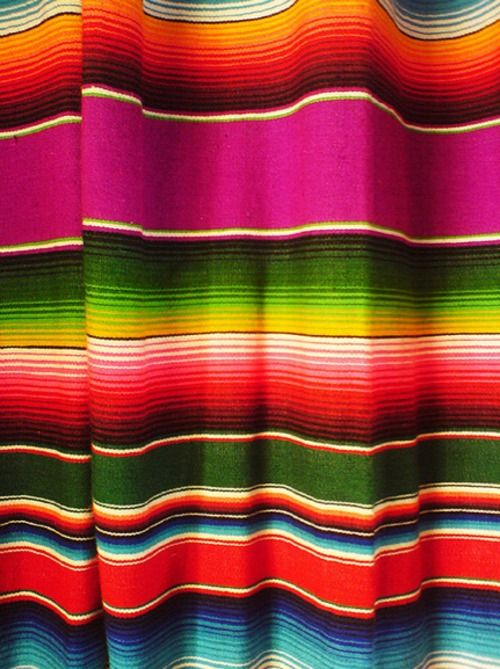 Bright Colored Mexican Blanket We Heart The Ocean
