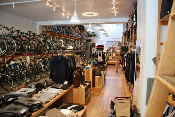 BICYCLE STORES! Huckleberry Bicycles, San Francisco store design